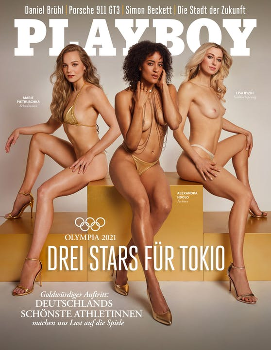 "Lisa Ryzih, Marie Pietruschka und Alexandra Ndolo im ""Playboy"""