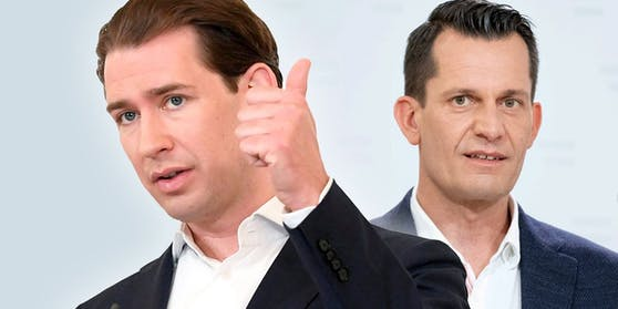 Bundeskanzler Sebastian Kurz (ÖVP) und Gesundheitsminister Wolfgang Mückstein (GRÜNE).