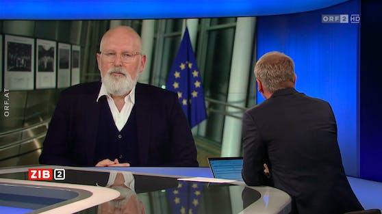 EU-Kommissionsvizepräsident Frans Timmermans in der ZIB2 am 14. Juli 2021