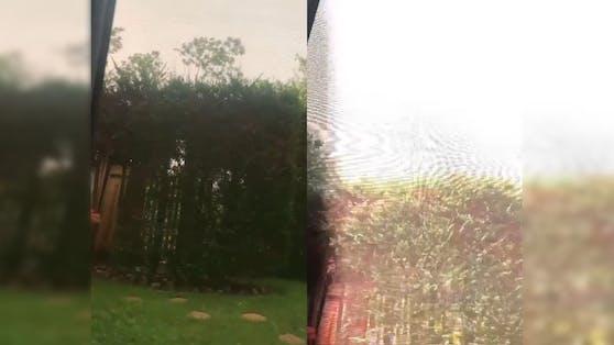 Der Blitz schlug nur weniger Meter entfernt ein.
