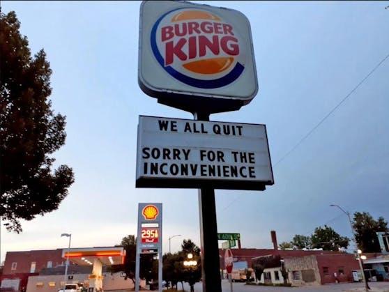 Angestellte einer Burger King-Filiale sorgten mit ihrer Kündigung für Aufsehen.