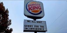 Dieser Burger King verliert alle Mitarbeiter auf einmal