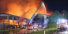 Firmenhallen wurden zu Feuer-Inferno – Großalarm