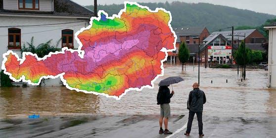 Das Tief sorgt aktuell in Belgien und Deutschland für Überflutungen