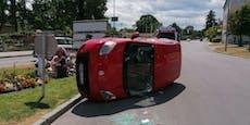 Drei Verletzte bei schwerem Crash in Wr. Neustadt
