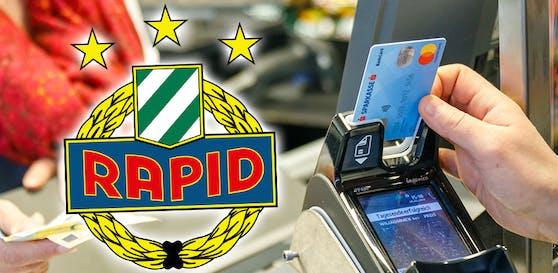 Rapidler bekommen eine grün-weiße Bankomat-Karte