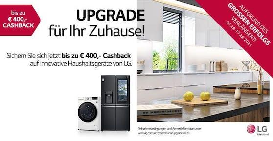LG verlängert Cashback-Aktion für innovative Haushaltsgeräte.