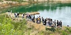 Schüler feierten Party am See bis die Polizei kam