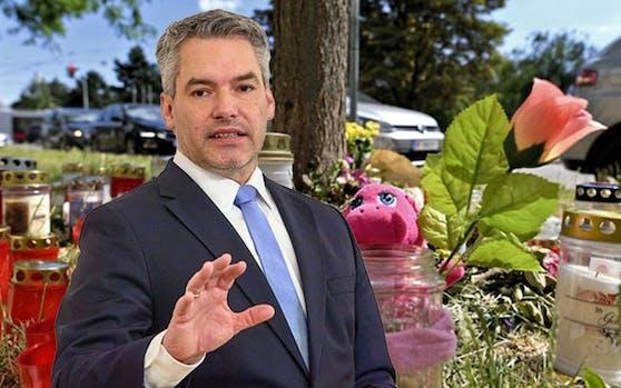 """Innenminister Karl Nehammer (ÖVP) will straffällig gewordene Asylwerber """"sofort abschieben"""" können."""