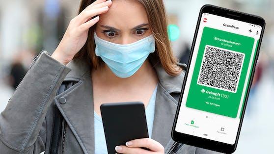 """Android-User schauen bei der """"Grüner Pass""""-App derzeit noch durch die Finger"""