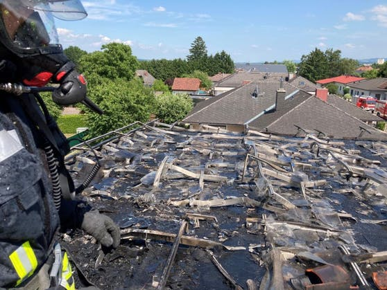 Photovoltaik-Anlage in Brand