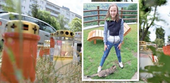 Leonie (13) mit Kater Felix - der 13-Jährige Kater war ihr Liebling