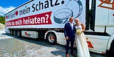 Ein Jahr nach Mega-Antrag heiratete Erwin seine Miriam