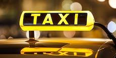 Betrunkene stehlen Taxi und bauen Unfall