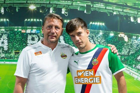 Rapid-Sportchef Zoran Barisic, Jonas Auer