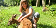 Leonie (8) rettete Reh aus Teich