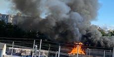 Großbrand ausgebrochen – schwarze Rauchsäule über Wien