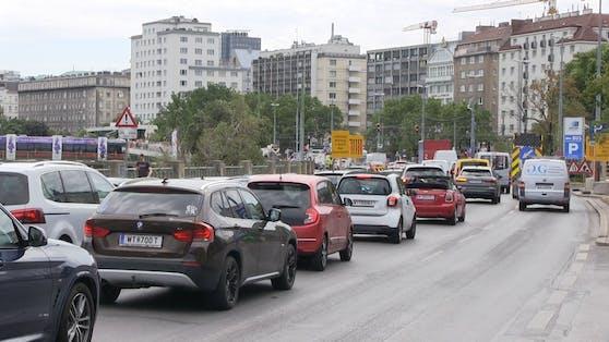 Die Modernisierung der U4 führt beim Schwedenplatz zu Stau.