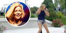 Michelle singt im Fernsehgarten, alle verspotten Outfit