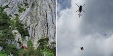 Kletterer trat Fels ab, ließ Verletzte am Berg zurück