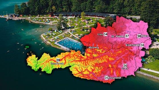 Experten warnen vor der extremen Hitze - vor allem am Donnerstag glüht Österreich.