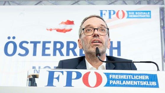 Klubobmann Herbert Kickl (FPÖ) im Rahmen der Pressekonferenz am 6. Juli 2021