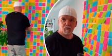Darum pickt DJ Ötzi Tausende von Post-its an seine Wand