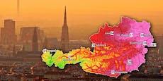 Knapp 40 Grad – so kommt die Gluthitze nach Österreich