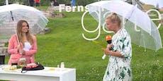 """Doppelmoral"": Fans schimpfen über Kiewels Regenschirm"