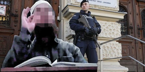 """Neben """"Abu Aische"""" ist auch Hassprediger O. (im Bild) angeklagt, sein Prozess war 2016 in Graz."""