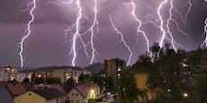 Heftige Gewitter! Warnstufe Rot in mehreren Bundesländern
