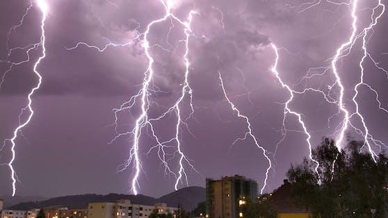 Blitz-Alarm in Österreich.