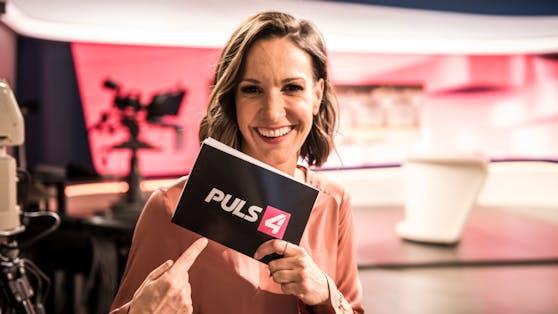 """Seit 2018 ist Barbara Fleißner bei Puls4 und moderiert hier gemeinsam mit Andreas Schmid das Frühstücksformat """"Café Puls"""","""