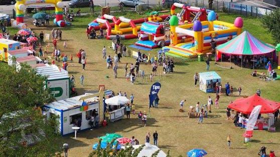 Das Festivalgelände der Mühlviertler Kinderspiele