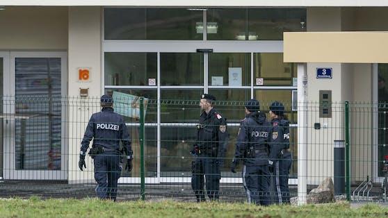 Ein Polizeieinsatz in Leoben. Archivbild.