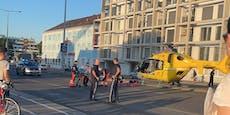 Radler crashen bei Alter Donau – Wiener schwer verletzt
