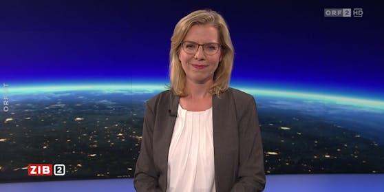 """Umwelt- und Infrastrukturministerin Leonore Gewessler in der """"ZiB 2"""""""