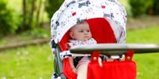So wird der Kinderwagen nicht zur Hitzefalle fürs Baby