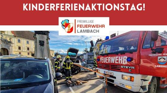 Die Feuerwehr Lambach zeigt, was sie kann.