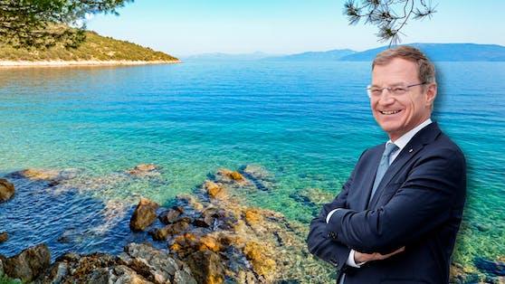 LH Thomas Stelzer plant einen Kurzurlaub in Kroatien.