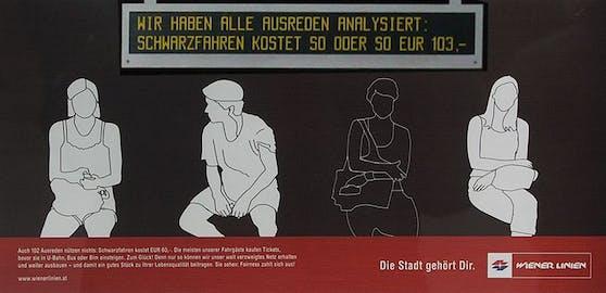 Ein Wiener-Linien-Plakat aus 2017