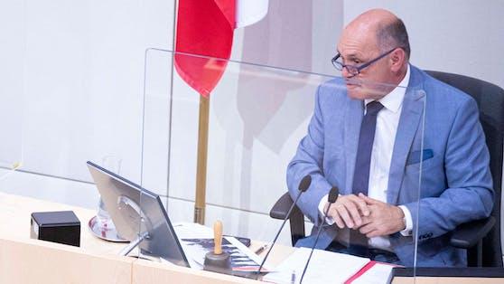 Präsident Sobotka entschuldigte sich für seinen Ausrutscher.