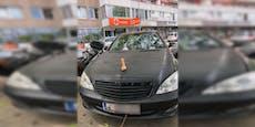 Dildo-Mercedes sorgt für Aufsehen beim Praterstern