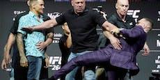 McGregor dreht durch: Kick, Flaschenwurf, Schimpftirade