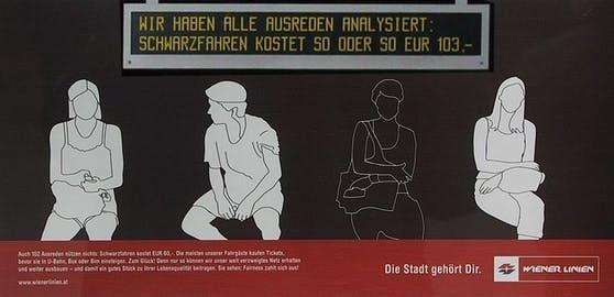 Ein mittlerweile aus der Zeit gekommenes Plakat der Wiener Linien.