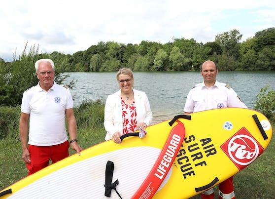 Arnold Wagner, SP-Landesrätin Ulrike Königsberger-Ludwig sowie Präsident Markus Schimböck.