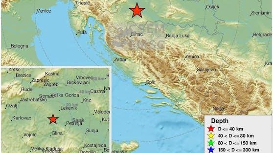 Am Freitag wurde ein Beben der Stärke 3,5 in Kroatien registriert.